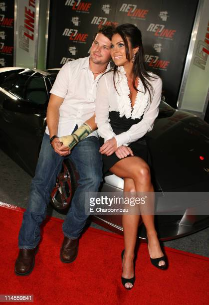 Nathan Philips and Nadia Bjorlin during 'Redline' the Movie Presents Wyclef Jean The Refugee AllStars Sponsored by MySpacecom Red Carpet at House of...