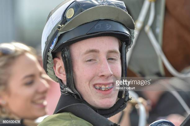 Nathan Punch after winning the Pakenham Produce BM58 Handicap at Racingcom Park Synthetic Racecourse on September 21 2017 in Pakenham Australia