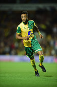 Nathan Redmond of Norwich City in action during the pre season friendly match between Norwich City and West Ham United at Carrow Road on July 28 2015...