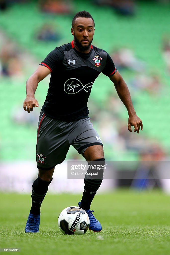 Nathan Redmond of Southampton runs with the ball during the friendly match between FC Groningen an FC Southampton at Euroborg Stadium on July 30 2016...