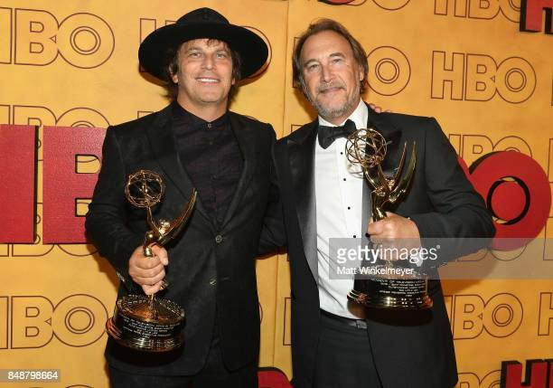 Nathan Ross and Gregg Fienberg attend HBO's Post Emmy Awards Reception at The Plaza at the Pacific Design Center on September 17 2017 in Los Angeles...