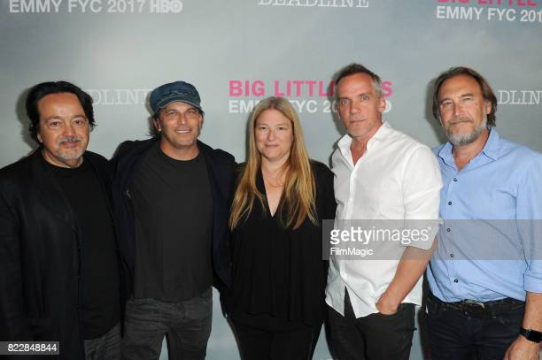 Nathan Ross Bruna Papandrea Per Saari JeanMarc Vallee and Gregg Fienberg attends the HBO 'Big Little Lies' FYC at DGA Theater on July 25 2017 in Los...