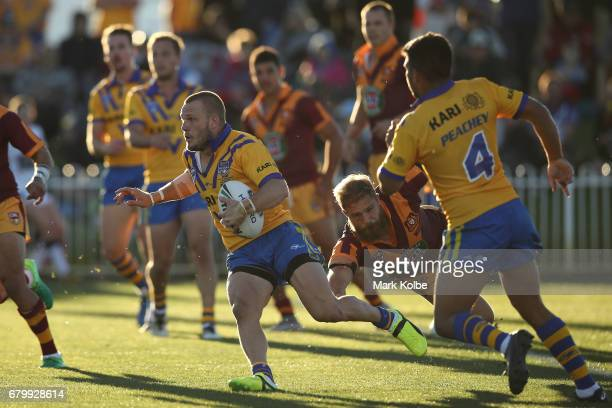 Nathan Ross of City runs the ball during the 2017 City versus Country Origin match at Glen Willow Sports Ground on May 7 2017 in Mudgee Australia