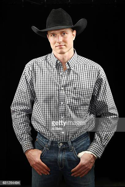 Nathan Schaper poses for a portrait during the PBR Monster Energy Buck Off at Madison Square Garden on January 8 2017 in New York City