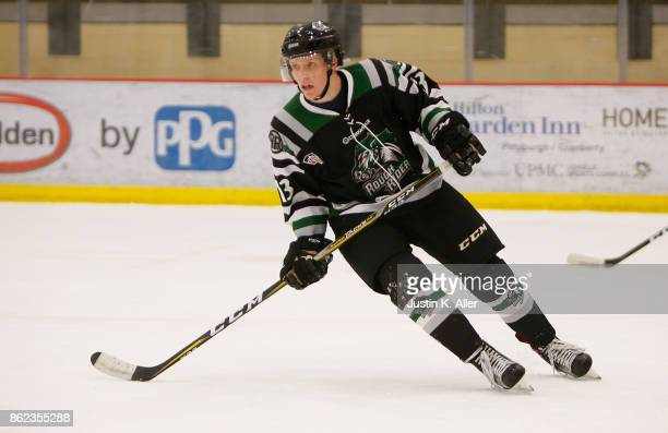 Nathan Smith of the Cedar Rapids RoughRiders skates during the game against the Sioux Falls Stampede on Day 2 of the USHL Fall Classic at UPMC...