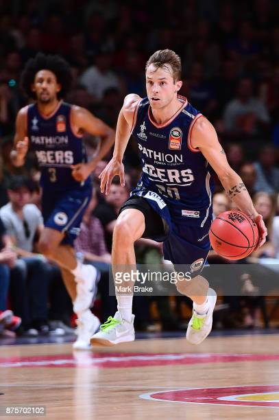 Nathan Sobey of Adelaide during the round seven NBL match between Adelaide 36ers and the Sydney Kings at Titanium Security Arena on November 18 2017...