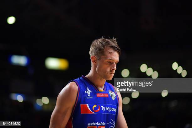 Nathan Sobey of the Adelaide 36ers walks from the court after the game three of the NBL Semi Final series between the Adelaide 36ers and the...