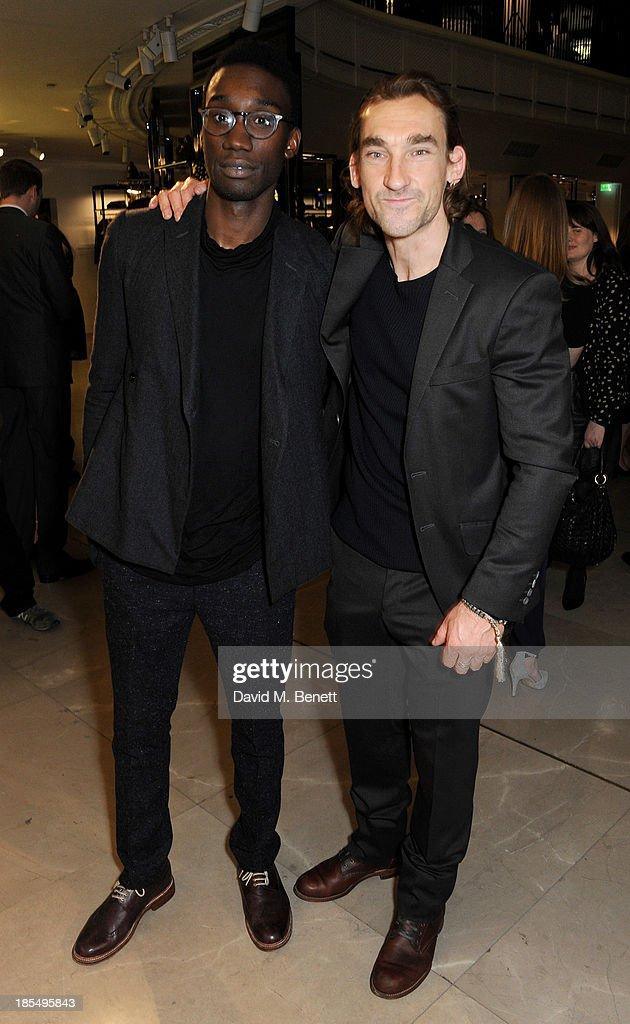 Nathan Stewart-Jarrett (L) and Joseph Mawle attend the BAFTA 'Breakthrough Brits' event at Burberry 121 Regent Street, London on October 21, 2013 in London, United Kingdom.