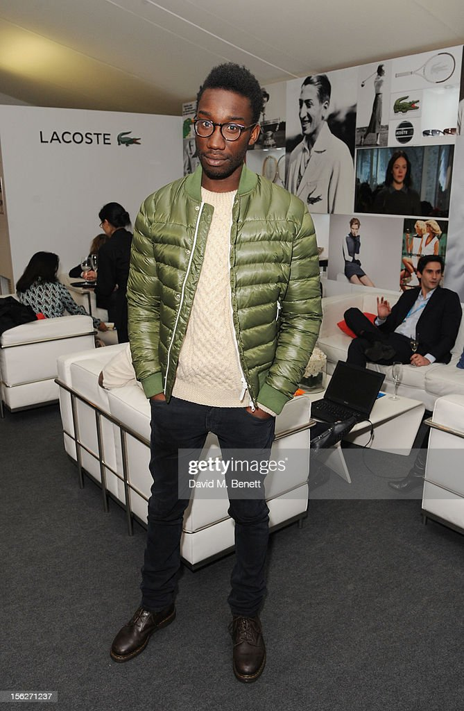 Nathan Stewart-Jarrett attends the Lacoste VIP lounge during day eight of the ATP World Finals at the O2 Arena on November 12, 2012 in London, England.
