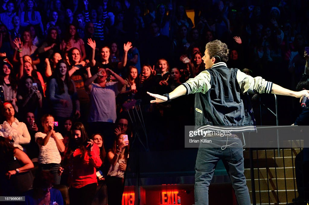 Nathan Sykes of The Wanted performs onstage during Z100's Jingle Ball 2012 presented by Aeropostale at Madison Square Garden on December 7, 2012 in New York City.