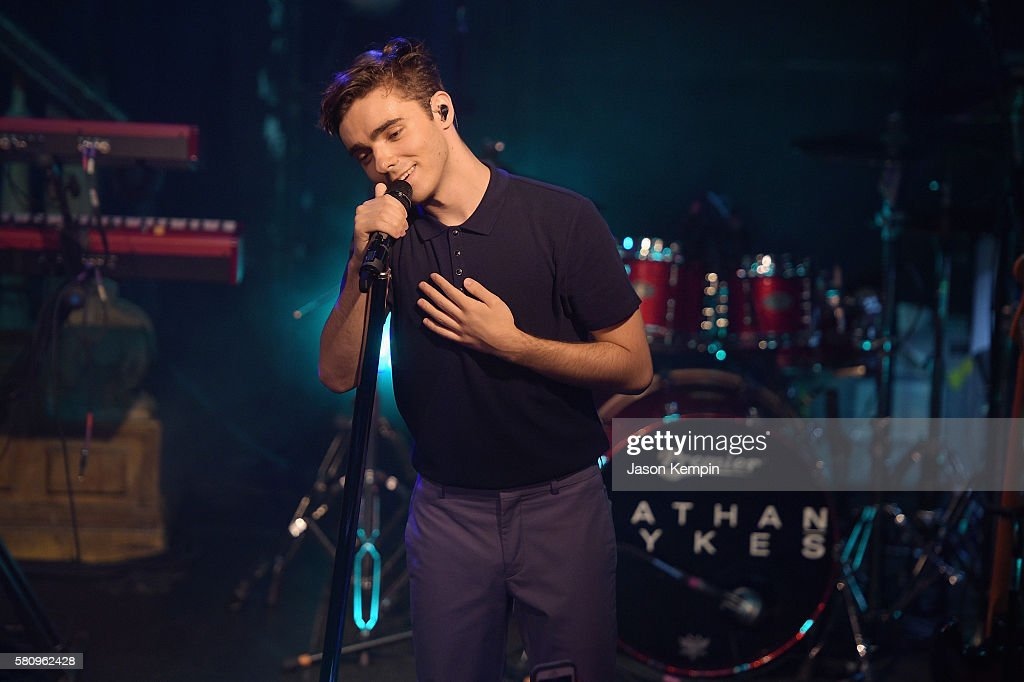 Nathan Sykes performs hits off his upcoming solo album out in November at The Box on July 25, 2016 in New York City.