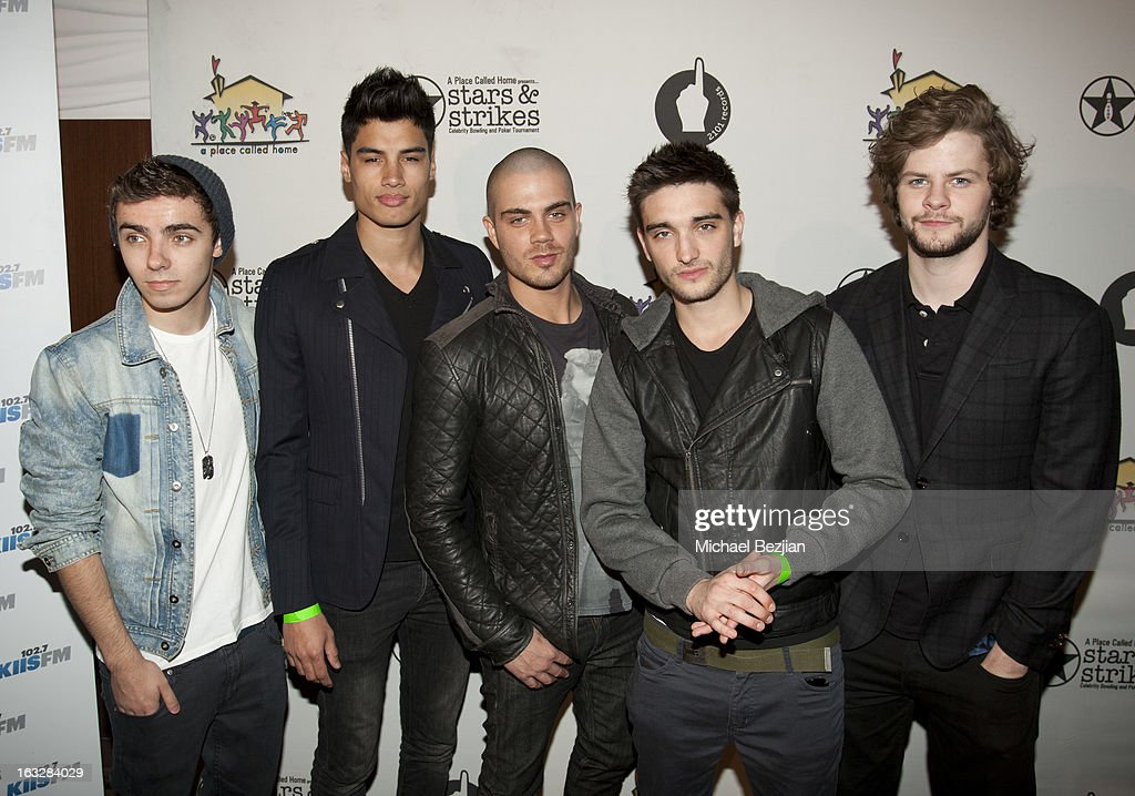 <a gi-track='captionPersonalityLinkClicked' href=/galleries/search?phrase=Nathan+Sykes&family=editorial&specificpeople=7039809 ng-click='$event.stopPropagation()'>Nathan Sykes</a>, <a gi-track='captionPersonalityLinkClicked' href=/galleries/search?phrase=Siva+Kaneswaran&family=editorial&specificpeople=7039810 ng-click='$event.stopPropagation()'>Siva Kaneswaran</a>, <a gi-track='captionPersonalityLinkClicked' href=/galleries/search?phrase=Max+George&family=editorial&specificpeople=7039808 ng-click='$event.stopPropagation()'>Max George</a>, Tom Parker and <a gi-track='captionPersonalityLinkClicked' href=/galleries/search?phrase=Jay+McGuiness&family=editorial&specificpeople=7039806 ng-click='$event.stopPropagation()'>Jay McGuiness</a> of The Wanted attend the 7th Annual 'Stars and Strikes' Celebrity Bowling And Poker Tournament Benefiting A Place Called Home at PINZ Bowling & Entertainment Center on March 6, 2013 in Studio City, California.