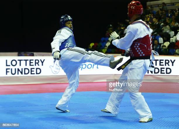 Nathan Torquato of Brazil against Gabriel Amado Garagarza of Spain in the K44 Male K44 75 Match 113 during 7th World Para Taekwondo Championships...