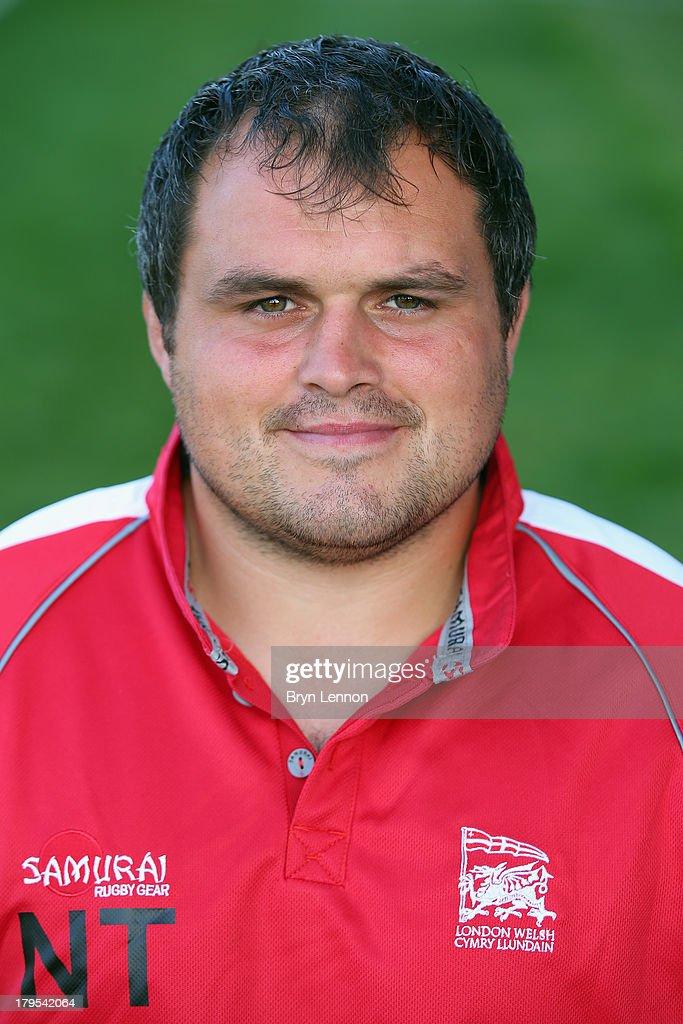 Nathan Trevett of London Welsh poses for a portrait during a London Welsh Media Day at Kassam Stadium on September 4, 2013 in Oxford, England.