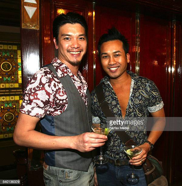 Nathan Vo left and Jayden Chantarasakha at An Evening with the Designers at the Strand Arcade Sydney 18 October 2006 SHD Picture by JANIE BARRETT