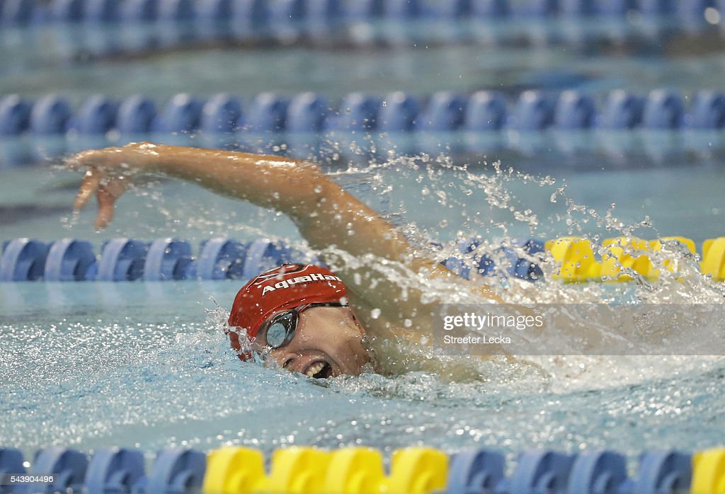 Nathan Whitten competes in the men's 400m Freestyle Multi-Class preliminaries on day 1 of the 2016 U.S. Paralympic Trials Swimming at Mecklenburg County Aquatic Center on July 1, 2016 in Charlotte, North Carolina.