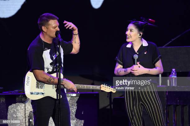 Nathan Willett and Bishop Briggs performs onstage with Cold War Kids during KROQ Almost Acoustic Christmas 2017 at The Forum on December 9 2017 in...