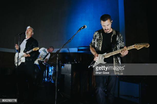 Nathan Willett and David Quon of Cold War Kids perform at Union Station on June 23 2017 in Los Angeles California