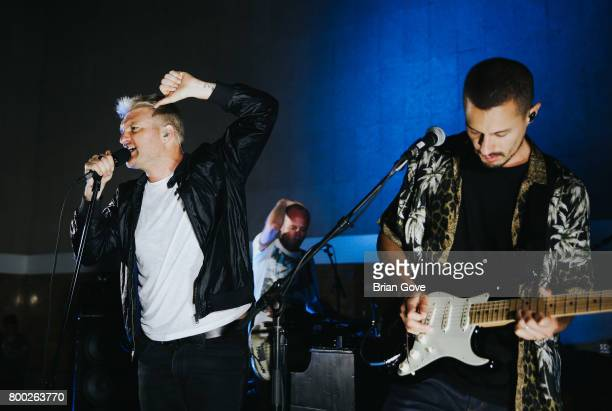 Nathan Willett Matt Maust and David Quon of Cold War Kids perform at Union Station on June 23 2017 in Los Angeles California