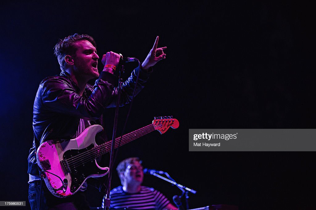 <a gi-track='captionPersonalityLinkClicked' href=/galleries/search?phrase=Nathan+Willett&family=editorial&specificpeople=4195231 ng-click='$event.stopPropagation()'>Nathan Willett</a> of Cold War Kids performs during Summer Camp hosted by 107.7 The End at Marymoor Park on August 10, 2013 in Seattle, Washington.