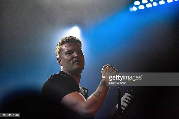 Nathan Willett of Cold War Kids performs onstage during a private concert for SiriusXM subscribers on December 18 2015 in West Hollywood California
