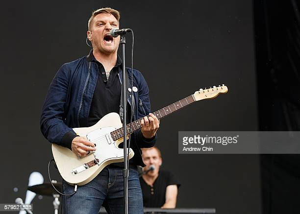 Nathan Willett of rock band Cold War Kids performs onstage during day 2 of Pemberton Music Festival on July 15 2016 in Pemberton Canada