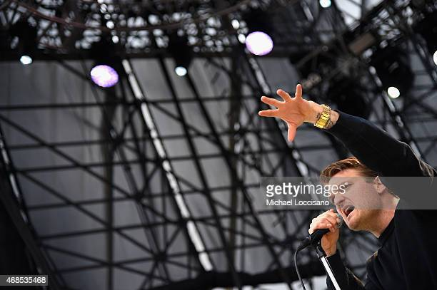 Nathan Willett of the band Cold War Kids performs onstage during the ATT Block Party at the NCAA March Madness Music Festival – Day 1 at White River...