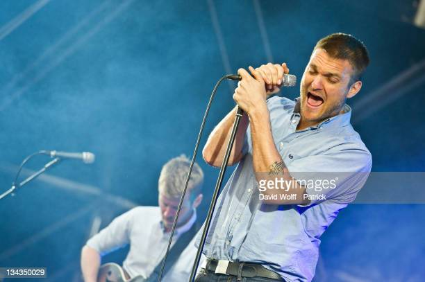 Nathan Willett performs at Solidays on June 24 2011 in Paris France