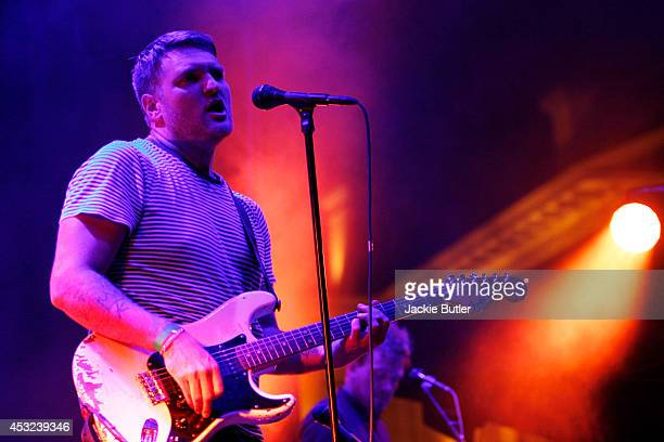 Nathan Willett performs with Cold War Kids at Pioneer Courthouse Square on August 5 2014 in Portland Oregon
