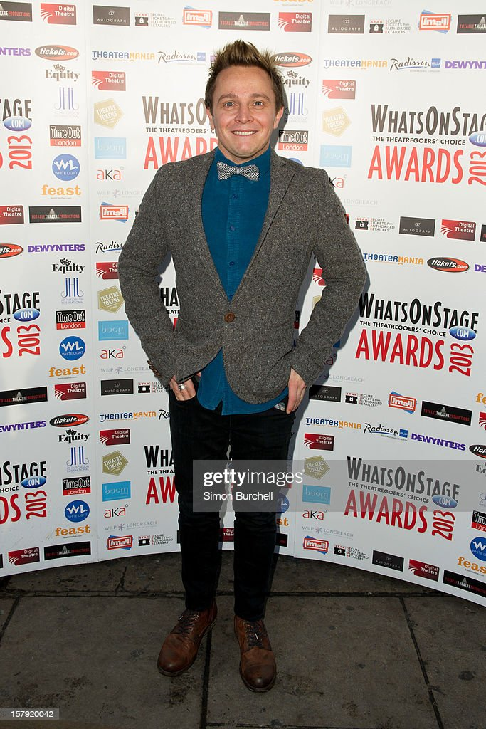 Nathan Wright attends the Whatsonstage.com Theare Awards nominations launch at Cafe de Paris on December 7, 2012 in London, England.