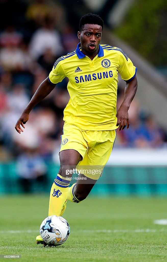 Nathaniel Chalobah of Chelsea in action duing the pre season friendly match between Wycombe Wanderers and Chelsea at Adams Park on July 16, 2014 in High Wycombe, England.