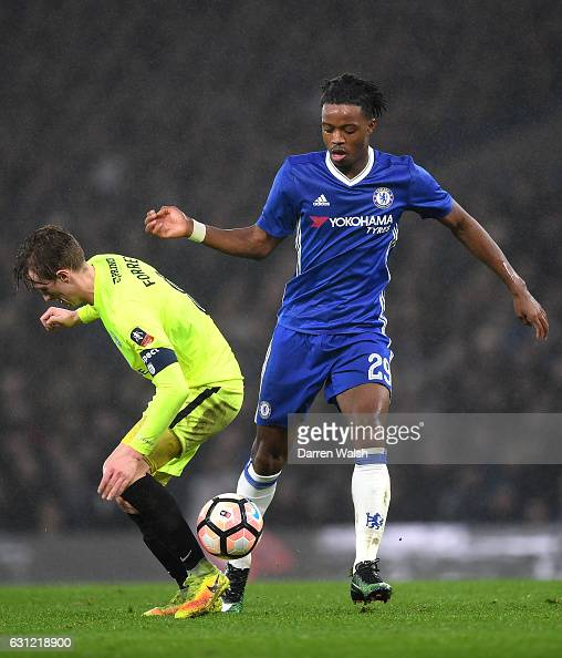 Nathaniel Chalobah of Chelsea in action during The Emirates FA Cup Third Round match between Chelsea and Peterborough United at Stamford Bridge on...
