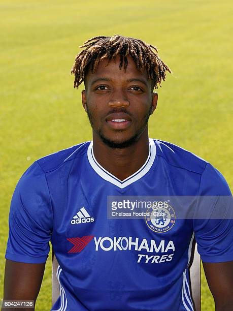 Nathaniel Chalobah of Chelsea poses for the headshot at Chelsea Training Ground on September 13 2016 in Cobham England