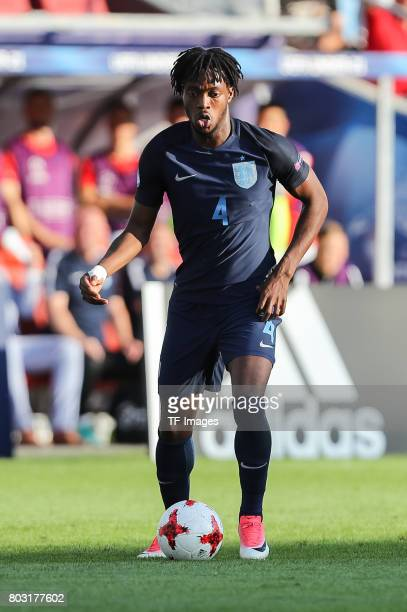 Nathaniel Chalobah of England in action during the 2017 UEFA European Under21 Championship match between Slovakia and England on June 19 2017 in...