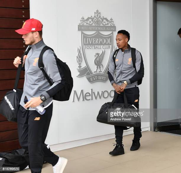 Nathaniel Clyne of Liverpool before pre season tour at Melwood Training Ground on July 16 2017 in Liverpool England