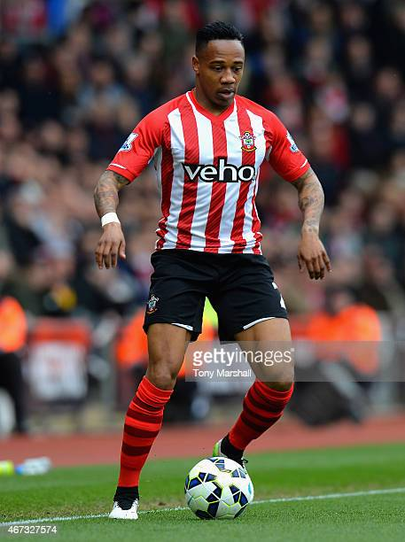 Nathaniel Clyne of Southampton during the Barclays Premier League match between Southampton and Burnley at St Mary's Stadium on March 21 2015 in...