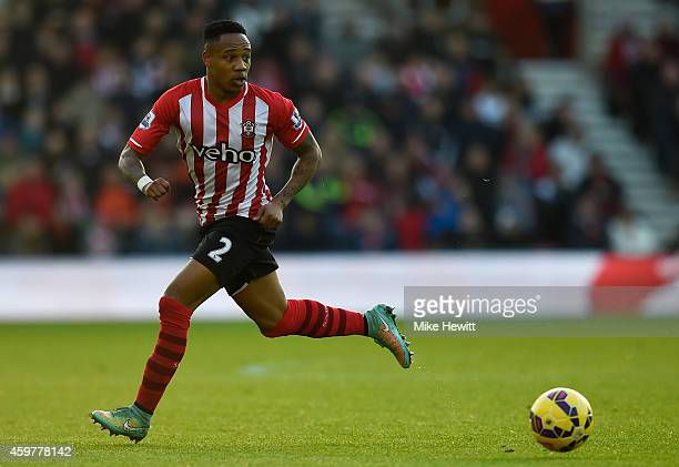 Nathaniel Clyne of Southampton in action during the Barclays Premier League match between Southampton and Manchester St Mary's Stadium on November 30...