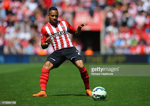 Nathaniel Clyne of Southampton on the ball during the Barclays Premier League match between Southampton and Aston Villa at St Mary's Stadium on May...