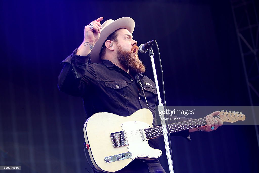 Nathaniel Rateliff performs during Musicfest NW presents Project Pabst at Tom McCall Waterfront Park on August 27 2016 in Portland Oregon