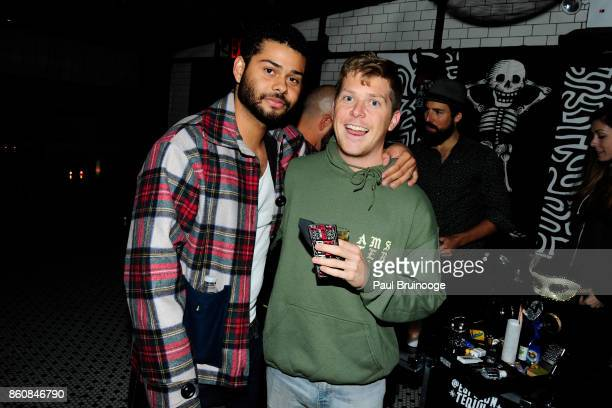 Nathaniel Ritchie and Dylan Brewer attend Espolòn Tequila Hosts Celebration in Partnership with Ai Weiwei Exodus Exhibit at Hotel Chantelle on...