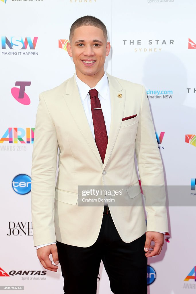 Nathaniel Willemse arrives for the 29th Annual ARIA Awards 2015 at The Star on November 26 2015 in Sydney Australia