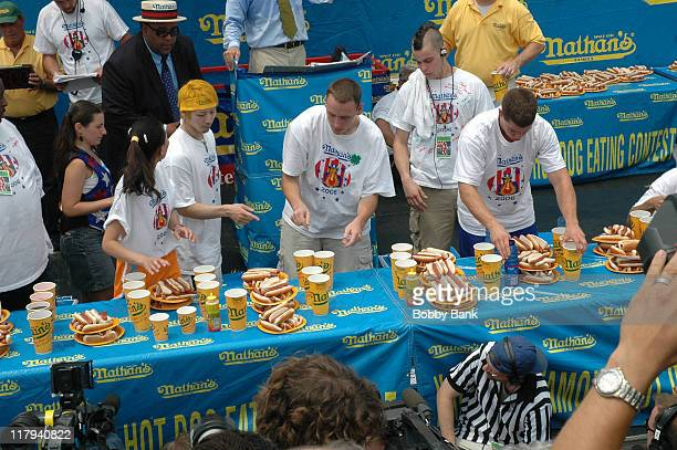 Nathan's Famous Hot Dog Eating Contest during 91st Nathan's Famous International Hot Dog Eating Contest July 4 2006 at Coney Island in Brooklyn New...