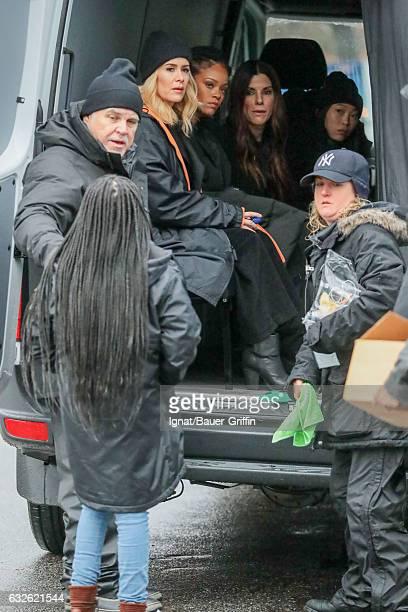 Nathanya Alexander Sarah Paulson Rihanna Sandra Bullock and Awkwafina are seen on January 24 2017 in New York City