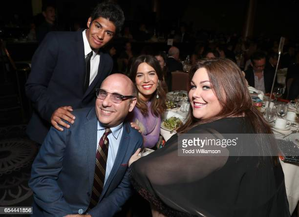Nathen Garson Willie Garson Mandy Moore Chrissy Metz attend the Alliance For Children's Rights 25th Anniversary Celebration at The Beverly Hilton...
