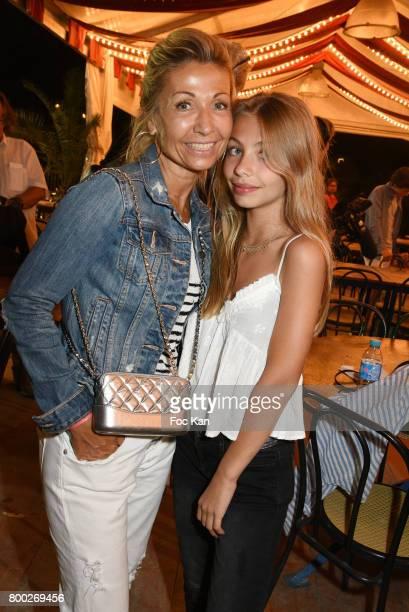 Nathy Belmondo and her daughter Stella Belmondo attend La Fete des Tuileries on June 23 2017 in Paris France