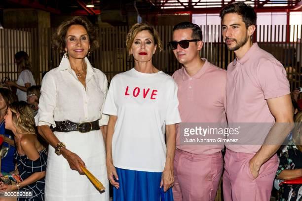 Nati Abascal and Agatha Ruiz de la Prada attend 'NV' fashion show during FIMI at Pabellon de Cristal on June 23 2017 in Madrid Spain