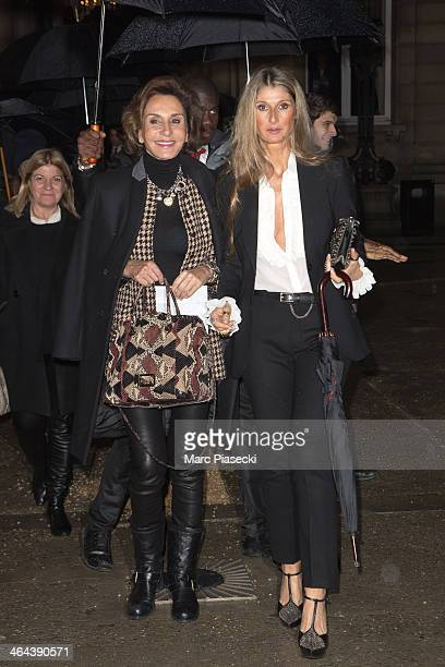 Nati Abascal and friend attend the Valentino show as part of Paris Fashion Week Haute Couture Spring/Summer 2014 on January 22 2014 in Paris France