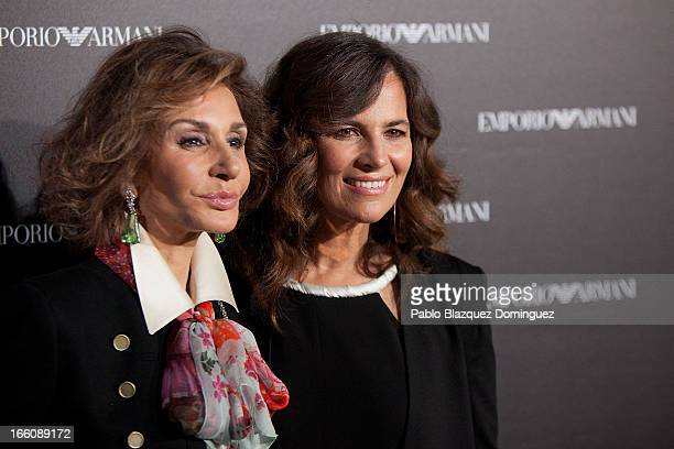 Nati Abascal and Roberta Armani attend Emporio Armani boutique opening on April 8 2013 in Madrid Spain
