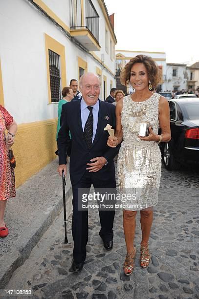 Nati Abascal and Tomas Terry attend Mercedes Bohorquez Domecq and Bruno Oliver Bulto's wedding on June 23 2012 in Jerez de la Frontera Spain