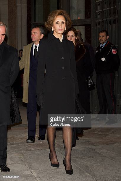 Nati Abascal attends a Funeral Service for Duchess of Alba at the Real Basilica de San Francisco el Grande on December 15 2014 in Madrid Spain
